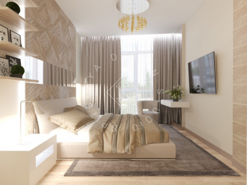 Дизайн трехкомнатной квартиры новом доме - 26