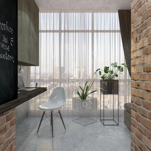 """Дизайн интерьера квартиры в стиле """"LOFT"""" ЖК """"RIVER PARK"""" - 5"""