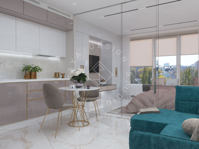 """Дизайн квартиры-студии в ЖК """"Bartolomeo Resort Town"""" г. Днепр"""