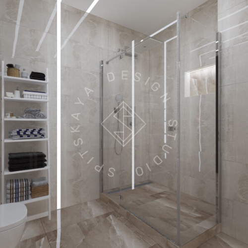 Дизайн трехкомнатной квартиры новом доме - 18
