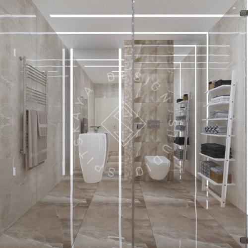 Дизайн трехкомнатной квартиры новом доме - 19