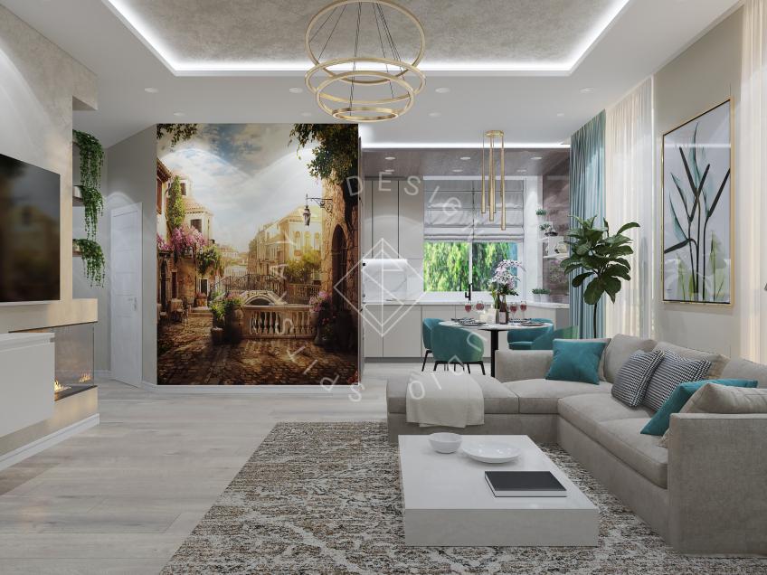 Дизайн квартиры в ЖК Панорама г. Днепр 2019г