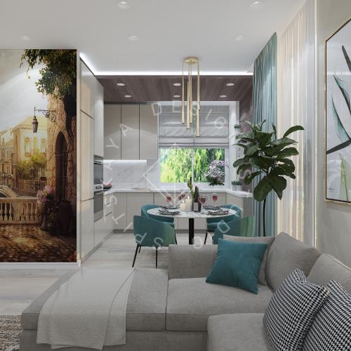 Дизайн квартиры в ЖК Панорама г. Днепр 2019г - 3