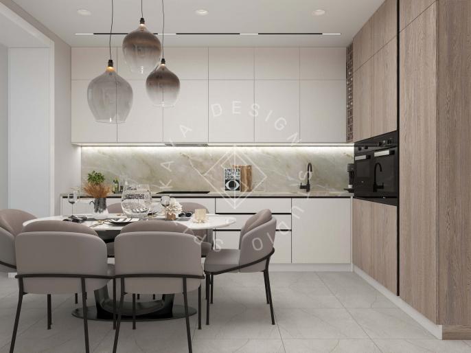 Дизайн квартиры в  ЖК Счастливый