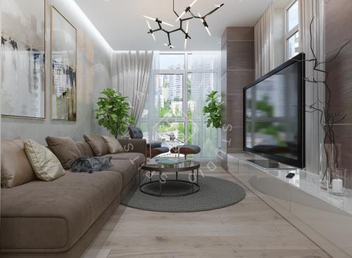 Дизайн трехкомнатной квартиры новом доме - 2