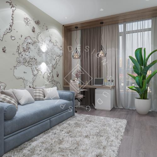 Дизайн интерьера квартиры в ЖК Comfort City Lux - 49