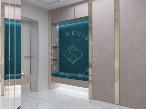 """Дизайн квартиры-студии в ЖК """"Bartolomeo Resort Town"""" г. Днепр - 13"""