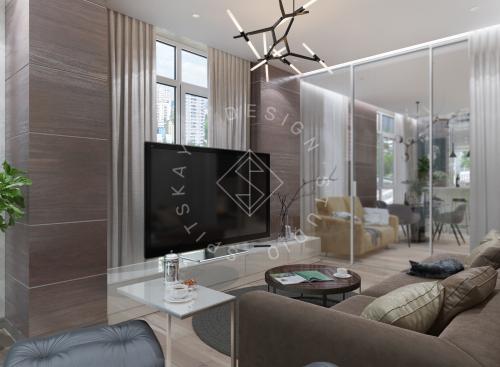 Дизайн трехкомнатной квартиры новом доме - 1