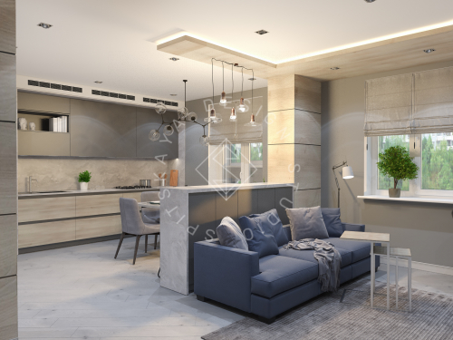Дизайн интерьера квартиры в ЖК Чкаловский - 2