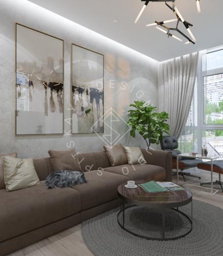 Дизайн трехкомнатной квартиры новом доме - 12