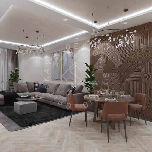 Дизайн квартиры 120 м2 - 1