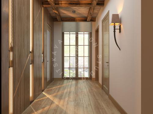 Дизайн проект интерьера загородного дома в стиле Шале - 23