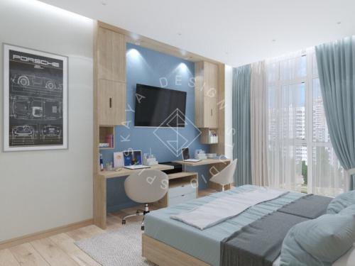 Дизайн трехкомнатной квартиры новом доме - 14