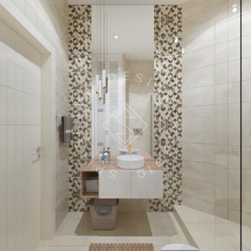 Дизайн трехкомнатной квартиры новом доме - 21