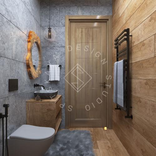 Дизайн проект интерьера загородного дома в стиле Шале - 12