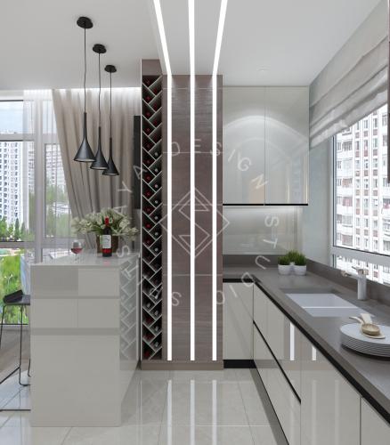 Дизайн трехкомнатной квартиры новом доме - 11