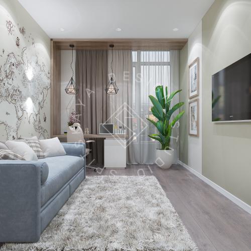 Дизайн интерьера квартиры в ЖК Comfort City Lux - 48