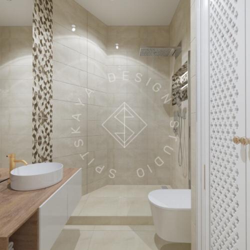Дизайн трехкомнатной квартиры новом доме - 23