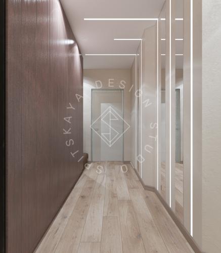 Дизайн трехкомнатной квартиры новом доме - 8