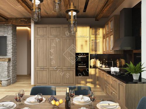 Дизайн проект интерьера загородного дома в стиле Шале - 4